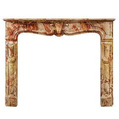 Antique Louis XV Sarrancolin Fireplace Mantel