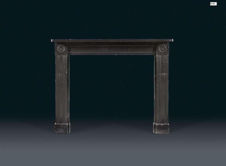Antique Regency Belgian Black Marble Fireplace Mantel At 1stdibs