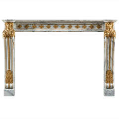 Antique 19th Century, Louis XVI Style Fireplace Mantel