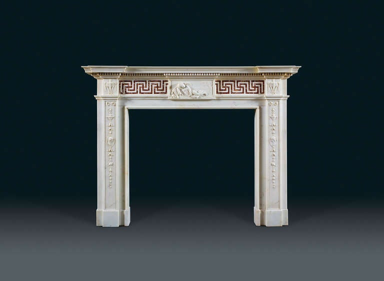 Antique English Neoclassical Fireplace Mantel 2