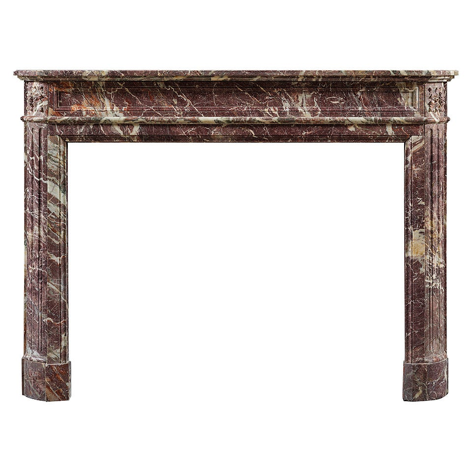antique french louis xvi style marble fireplace mantel for