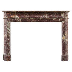 Antique French Louis XVI Style Marble Fireplace Mantel