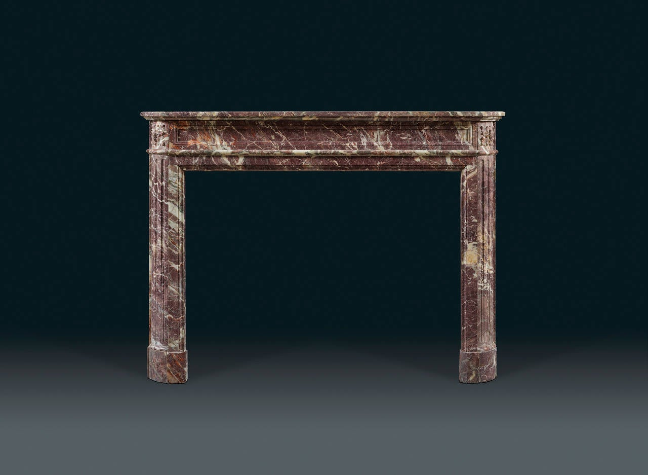 antique french louis xvi style marble fireplace mantel at