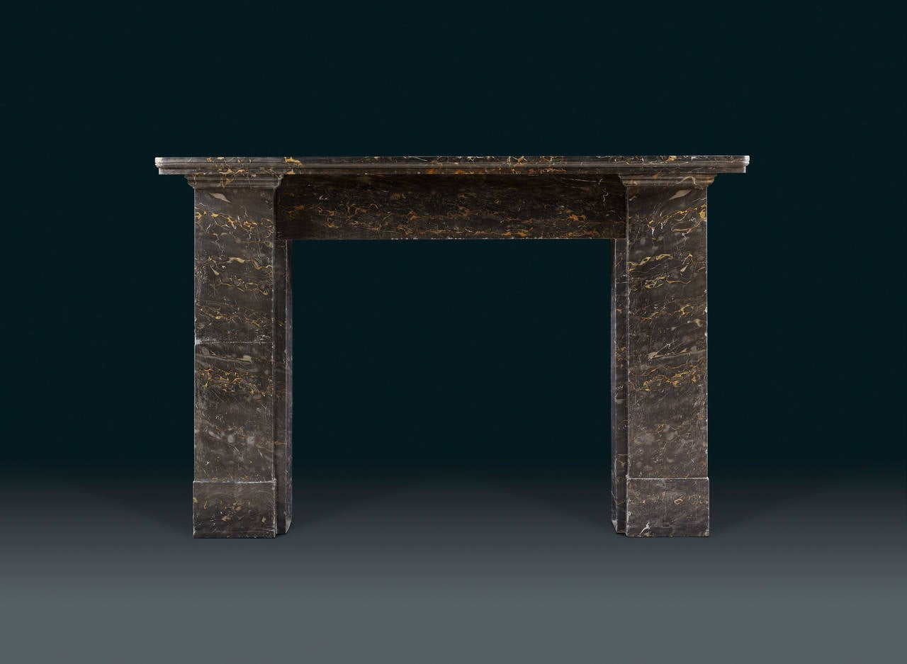 19th century fireplace mantel in solid portoro nero marble for sale at 1stdibs - Solid stone fireplace mantels with nice appearance ...