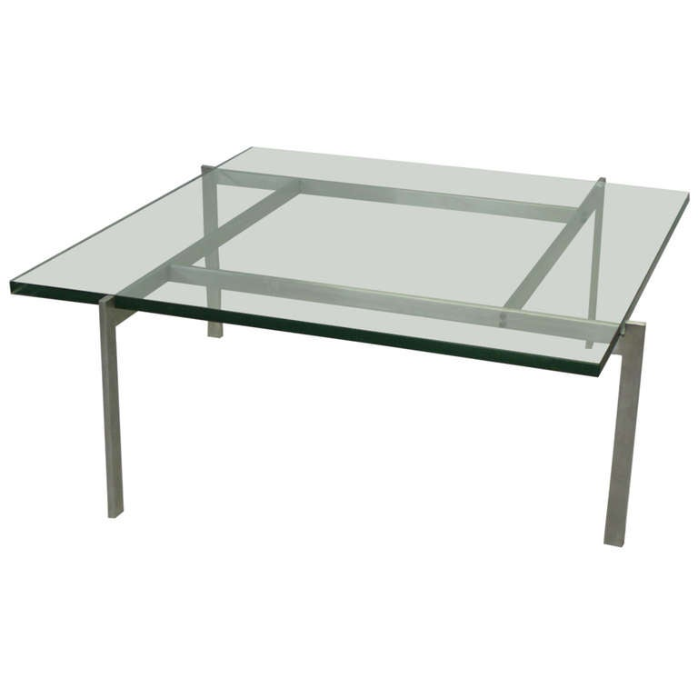 Architecturally Themed Coffee Table by Poul Kjaerholm For Sale