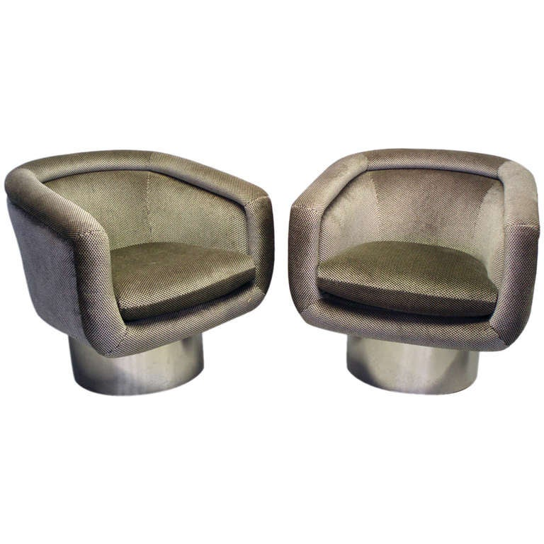 Swivel Barrel Chairs by Leon Rosen for Pace at 1stdibs