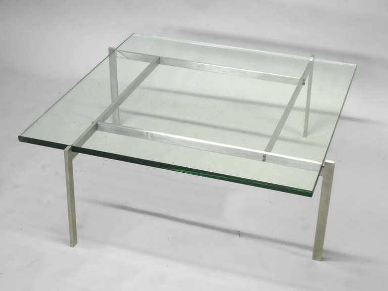 Mid-Century Modern Architecturally Themed Coffee Table by Poul Kjaerholm For Sale