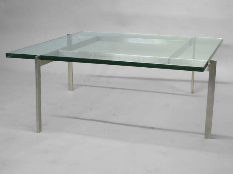 Danish Architecturally Themed Coffee Table by Poul Kjaerholm For Sale