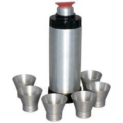 Machine Age Aluminum with Bakelite Cocktail Shaker Set