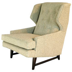 Style of Edward Wormley Modernist Wing Chair