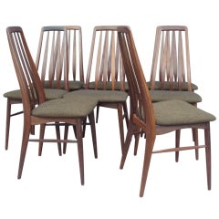 Set of Eight Rosewood Dining Chairs by Koefoeds Hornslet