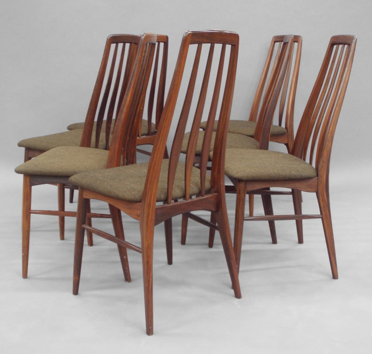 set of eight rosewood dining chairs by koefoeds hornslet at 1stdibs
