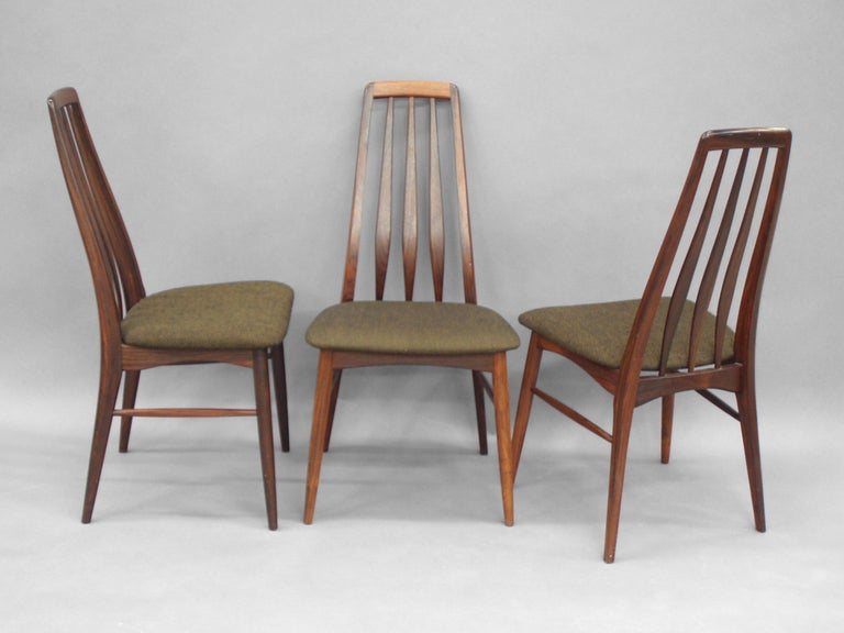 Set Of Eight Rosewood Dining Chairs By Koefoeds Hornslet 3