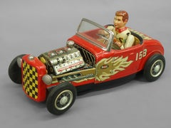 Tin Lithographed Hot Rod Toy Car