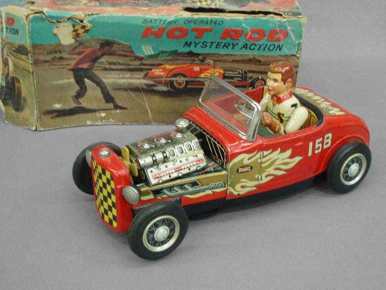 Tin Lithographed Hot Rod Toy Car 3