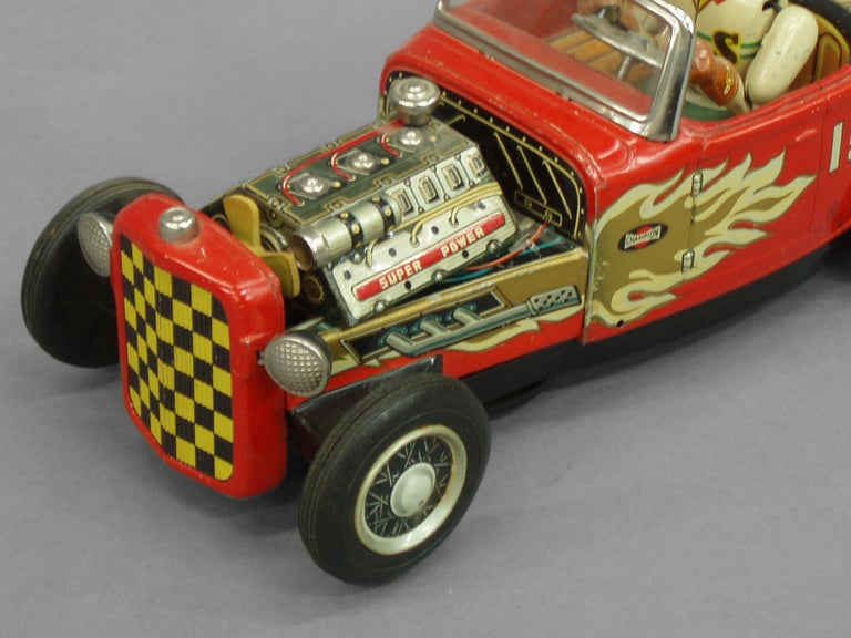 Tin Lithographed Hot Rod Toy Car 4