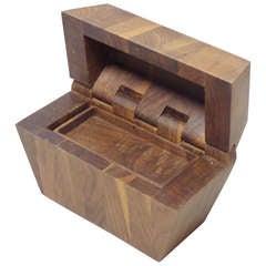 Studio Built Walnut Dresser Box with Exposed Hinge
