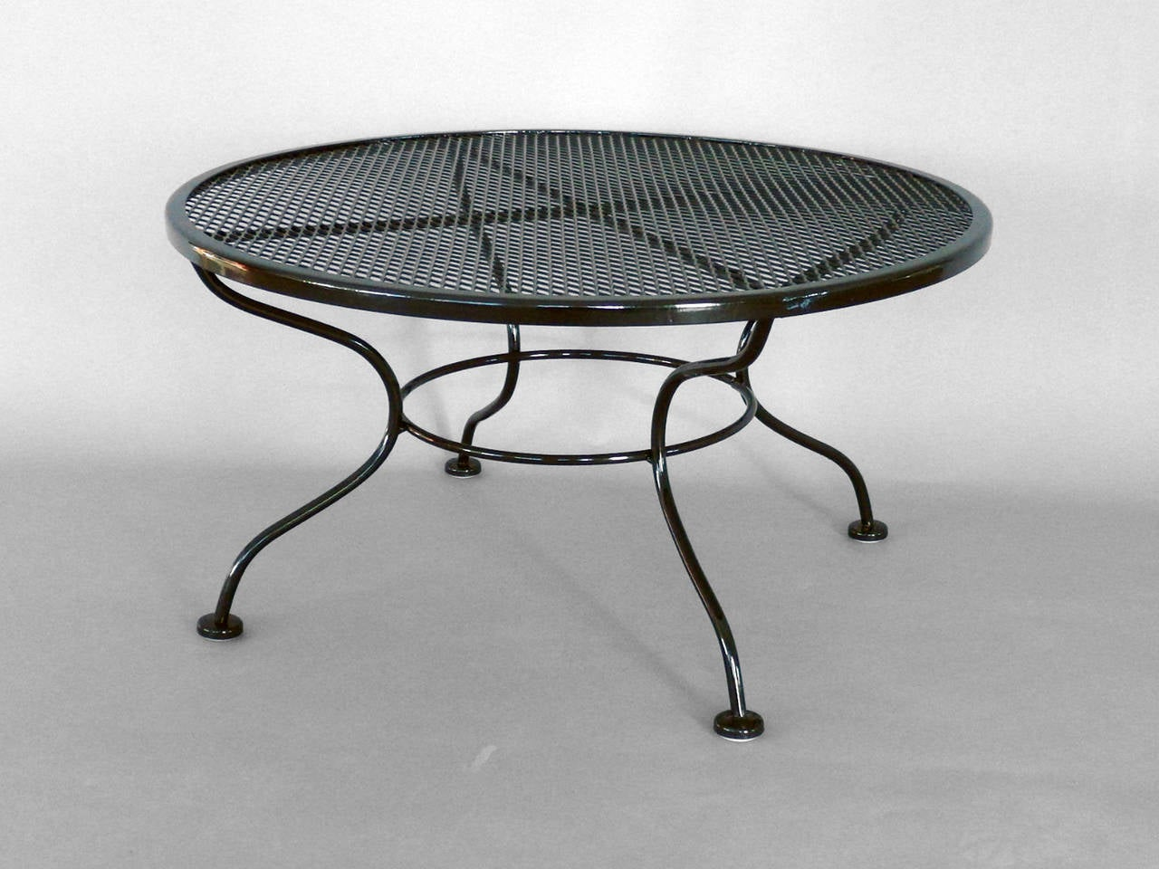 Woodard wrought iron coffee or occasional table at 1stdibs Wrought iron coffee tables