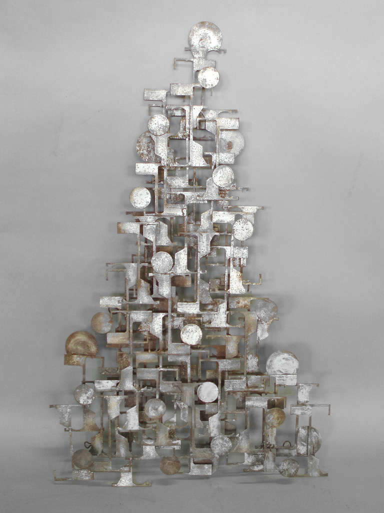 Brutalist Industrial Wall Sculpture For Sale At 1stdibs
