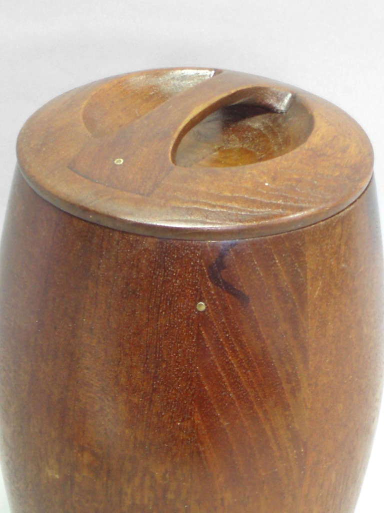 Early Production Teak Ice Bucket by Jens Quistgaard for Dansk In Excellent Condition For Sale In Ferndale, MI