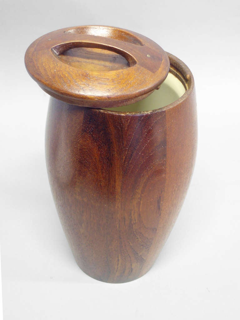 Mid-20th Century Early Production Teak Ice Bucket by Jens Quistgaard for Dansk For Sale