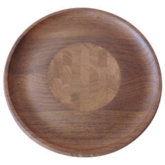 Finely Crafted Rosewood and Teak Reversible Serving Tray by Jens Quistgaard