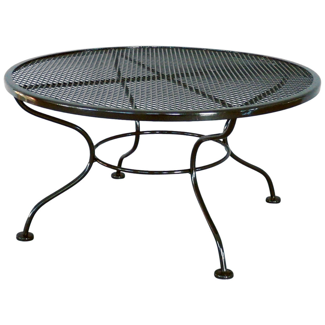 Iron Coffee Tables Woodard Wrought Iron Coffee Or Occasional Table For Sale At 1stdibs