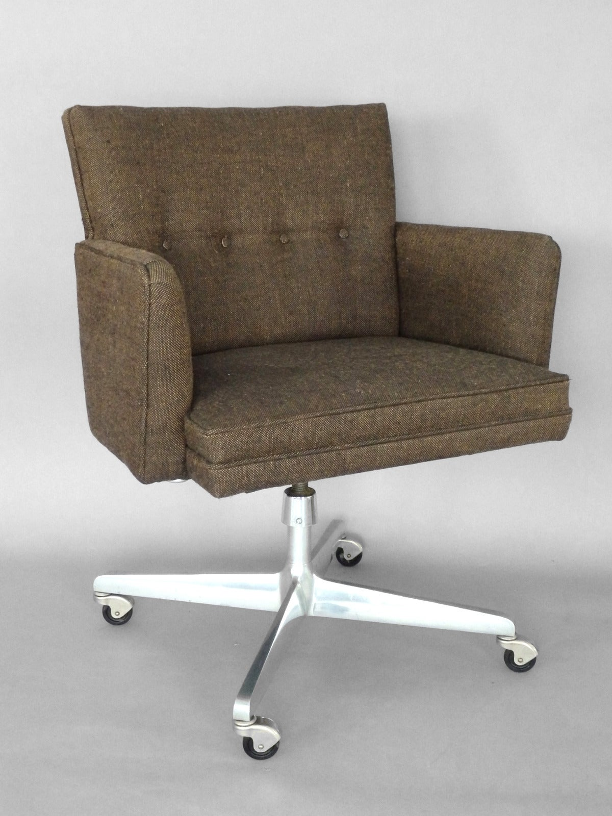 early and rare florence knoll swivel office chair for sale at 1stdibs