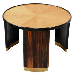 Round French Deco table by Mastercraft