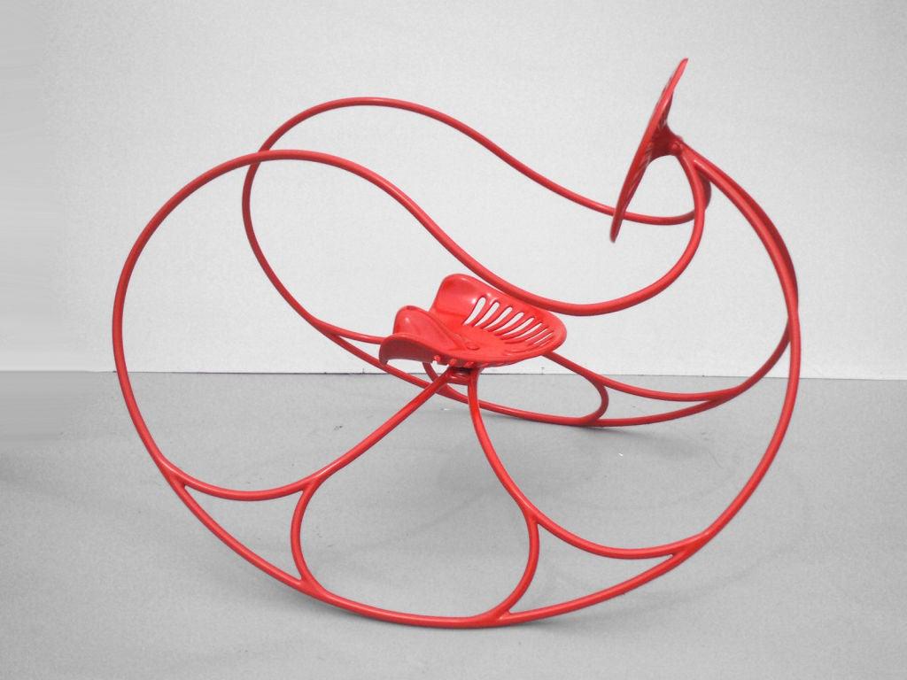 Modernist Thonet Style Op Pop Art Mod Rocking Lawn Chair 3