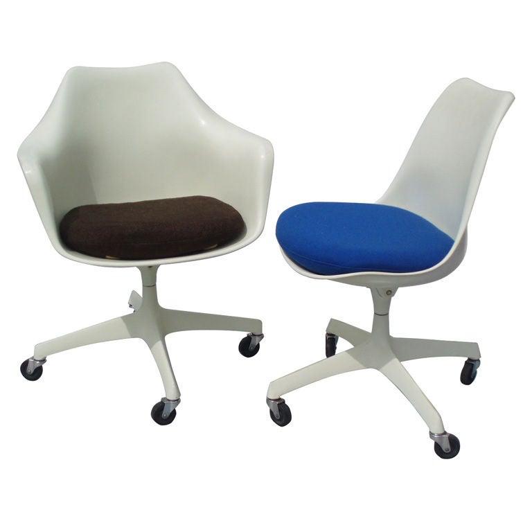 Tilt Swivel Tulip Desk Chairs By Eero Saarinen For Knoll 1