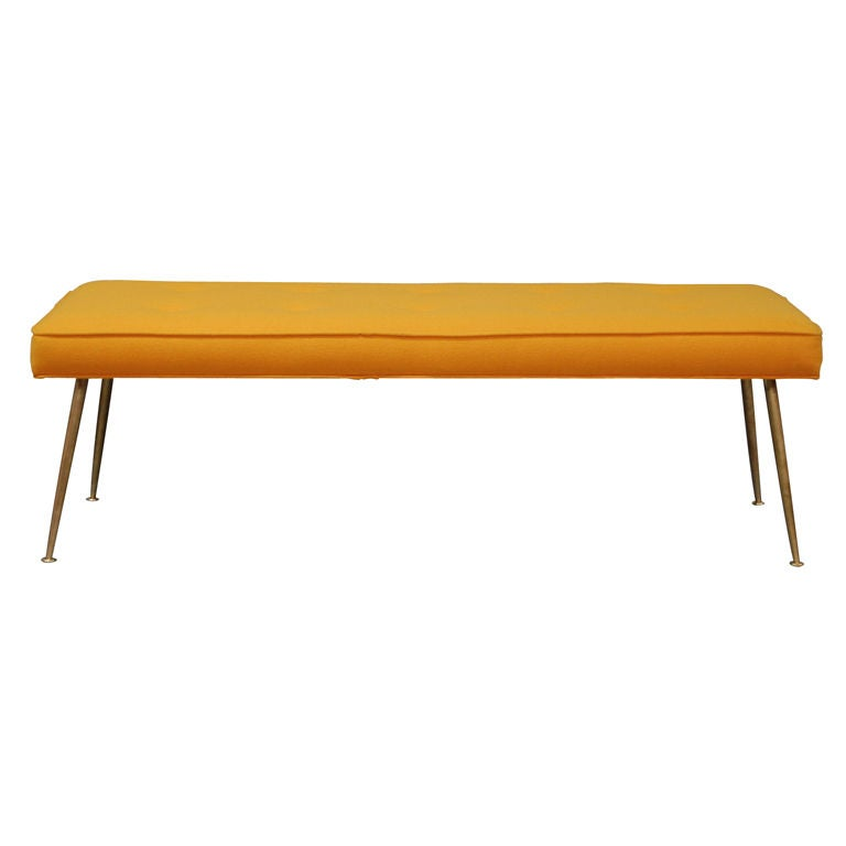 Modern Upholstered Bench at 1stdibs