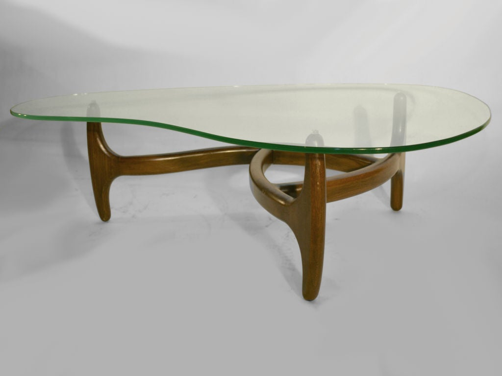 Adrian Pearsall Free Form Glass Top Coffee Table At 1stdibs