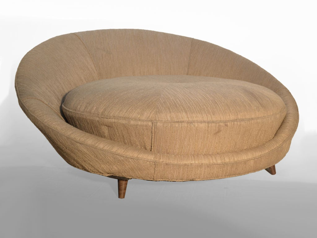 Large Milo Baughman Round Sofa Lounge Chair At 1stdibs
