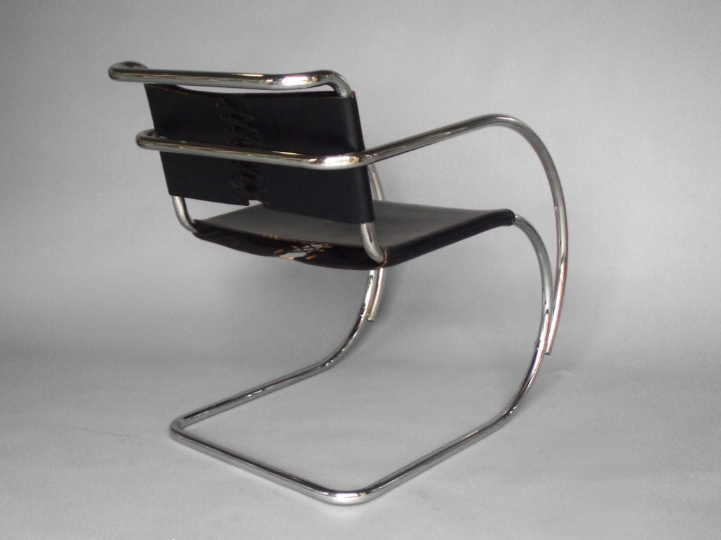 Mies van der rohe chair - Stainless Frame Leather Sling Mr Lounge Chair Mies Van Der Rohe 2