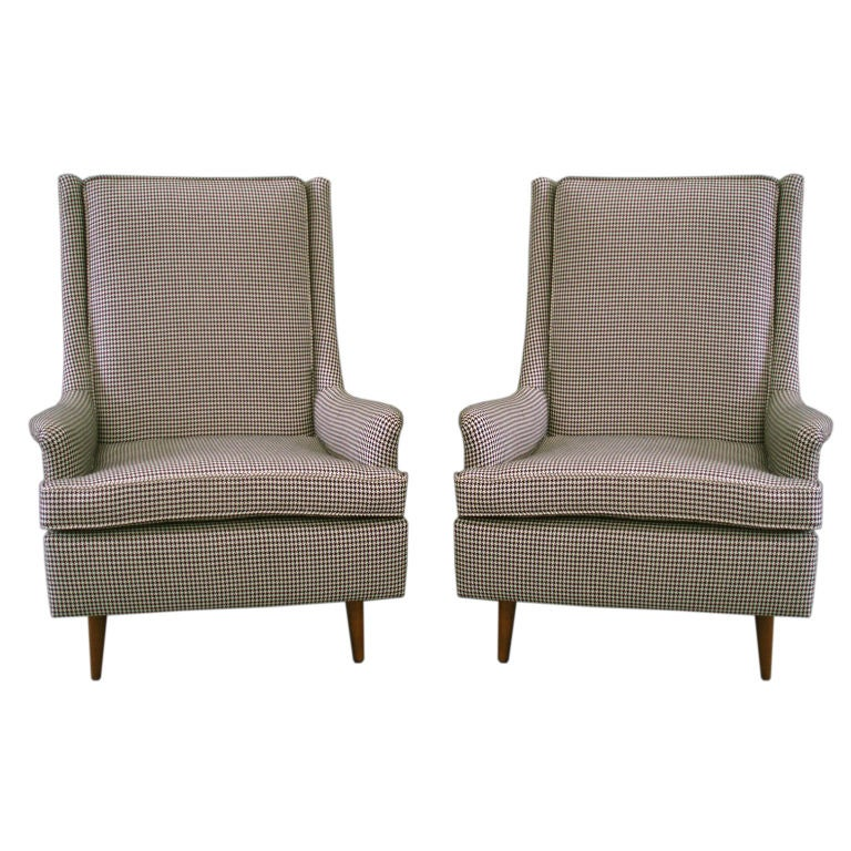 Pair of high back modernist library chairs by paul mccobb at 1stdibs - Library lounge chairs ...