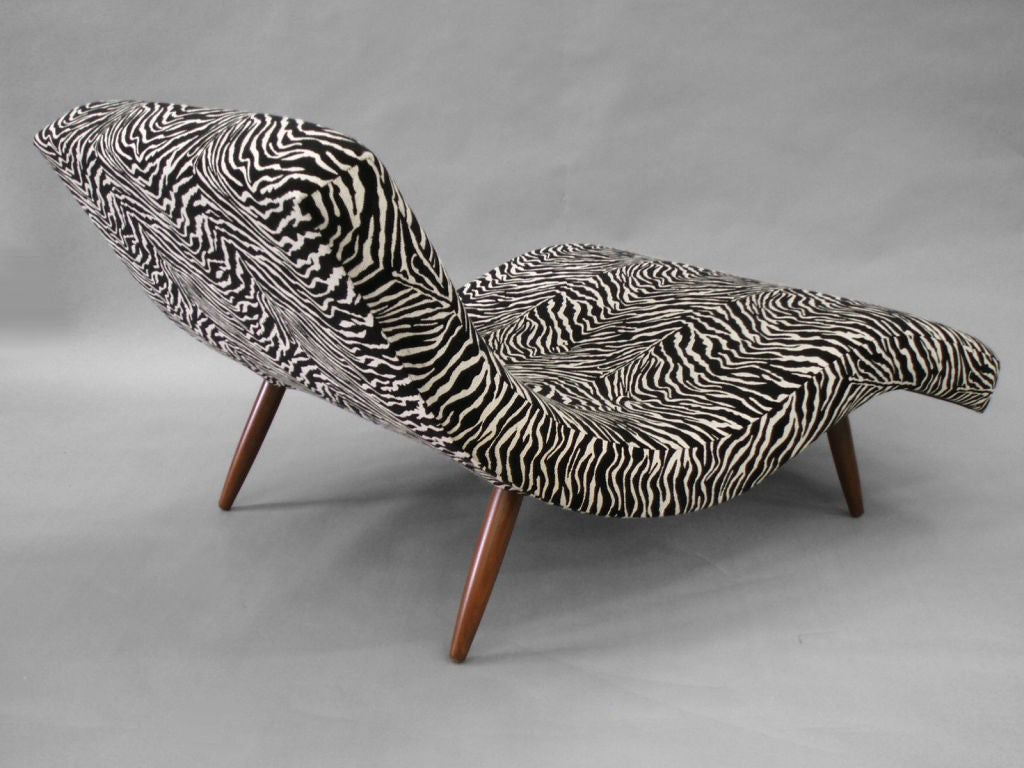 S curved partners chaise longue by adrian pearsall at 1stdibs for Animal print chaise longue