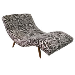 S Curved Partners Chaise Lounge  by Adrian Pearsall