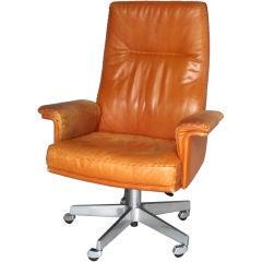 Executive Leather Swivel Adjustable Desk Chair