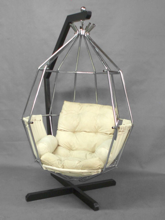 Hanging Parrot Cage Chair Designed By Ib Arborg At 1stdibs