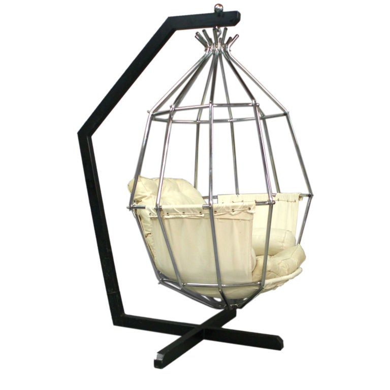Hanging Birdcage Chair By Parrot Cage Designed Ib Arborg At 1stdibs
