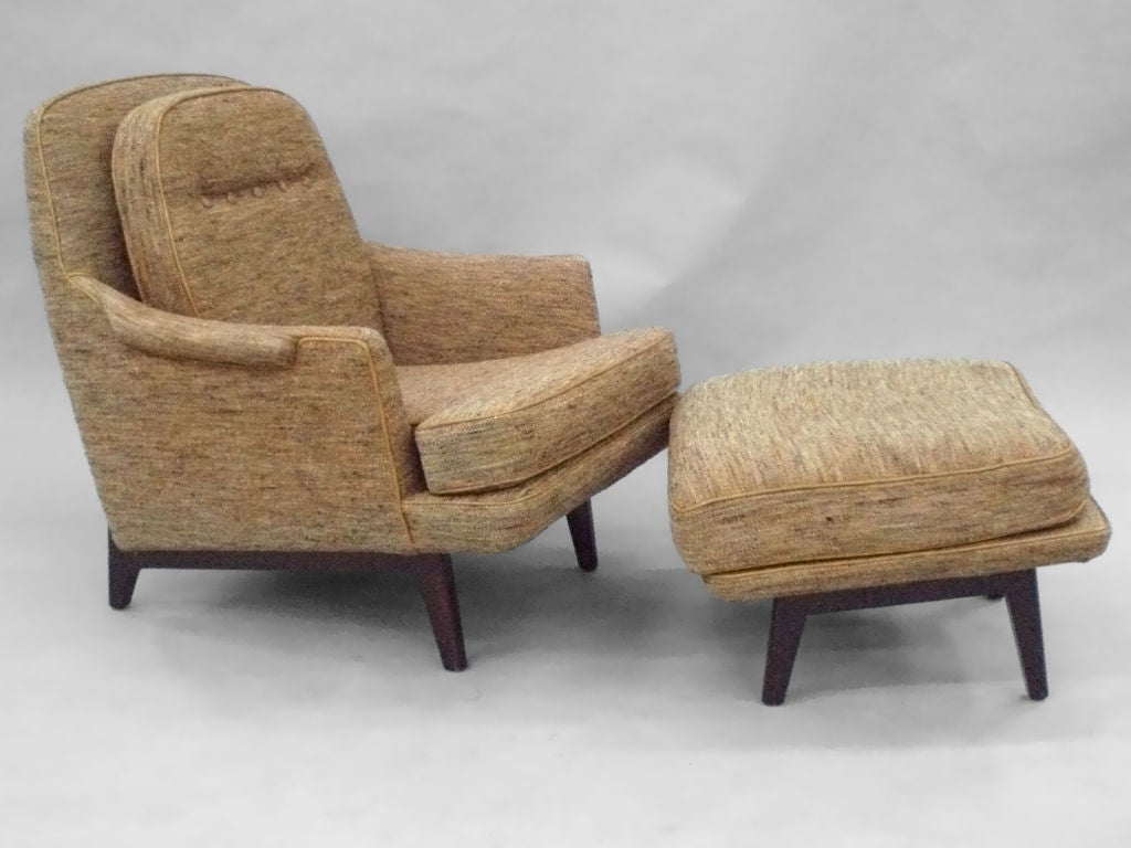 Gentleman 39 S Modernist Reading Chair And Ottoman Inspired