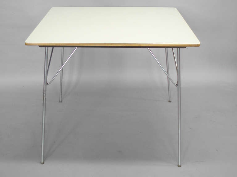 White Laminate Top DTM 20 Folding Dining Table By Charles And Ray Eames At 1s