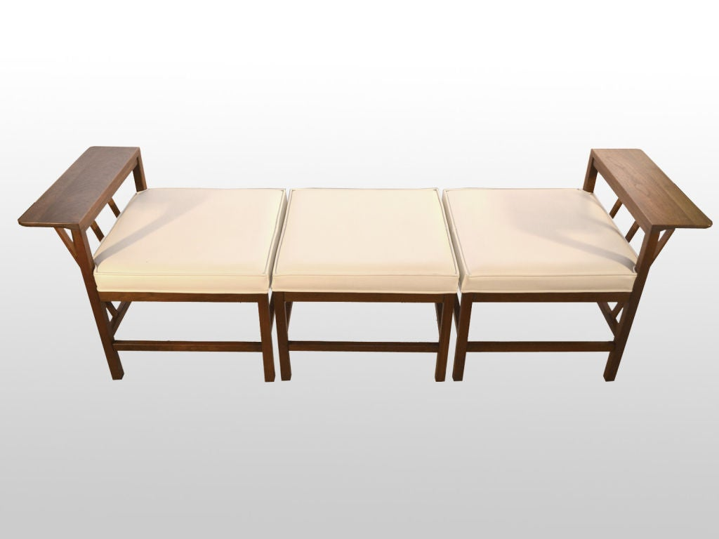 3 piece modular bench daybed danish modern style at 1stdibs Daybed bench