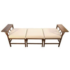 3 piecemodular Bench, Daybed Danish Modern Style