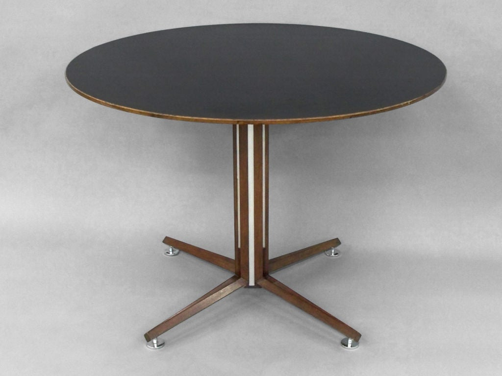 Rosewood Wth Black Laminate Top Dining Table By Wormley At 1stdibs