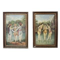 Naughty Girls at the Lake 1915 and 1950