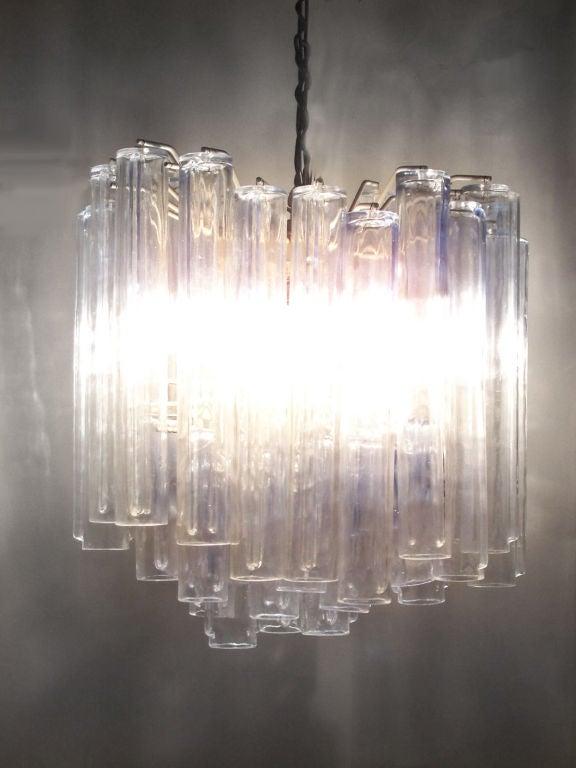 Mid-Century Modern Italian Glass Entry Pendant Lamp by Venini For Sale
