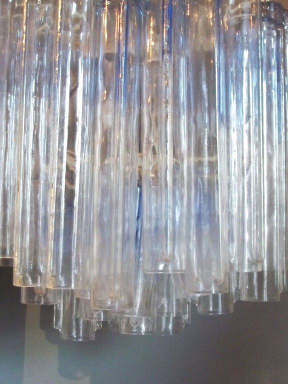 Italian Glass Entry Pendant Lamp by Venini In Good Condition For Sale In Ferndale, MI