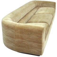 Barrel Back Couch on Plinth Base